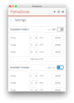 Скриншот № 2 интерфейса личного кабинта Pomodone